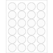 Clear Circle Laser Labels